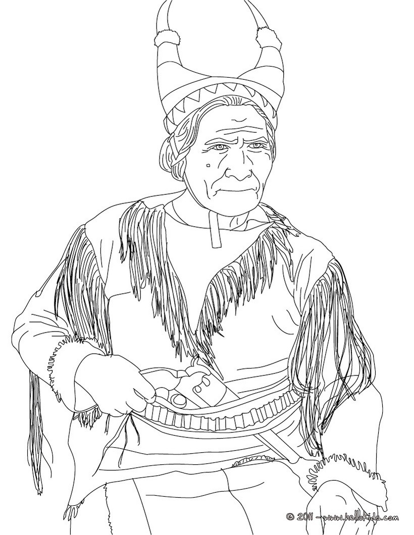 Sacajawea Coloring Pages Hellokids to Print Of Sacagawea Coloring Page to Print