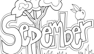September Coloring Pages to Print - September Coloring Pages to and Print for Free Printable