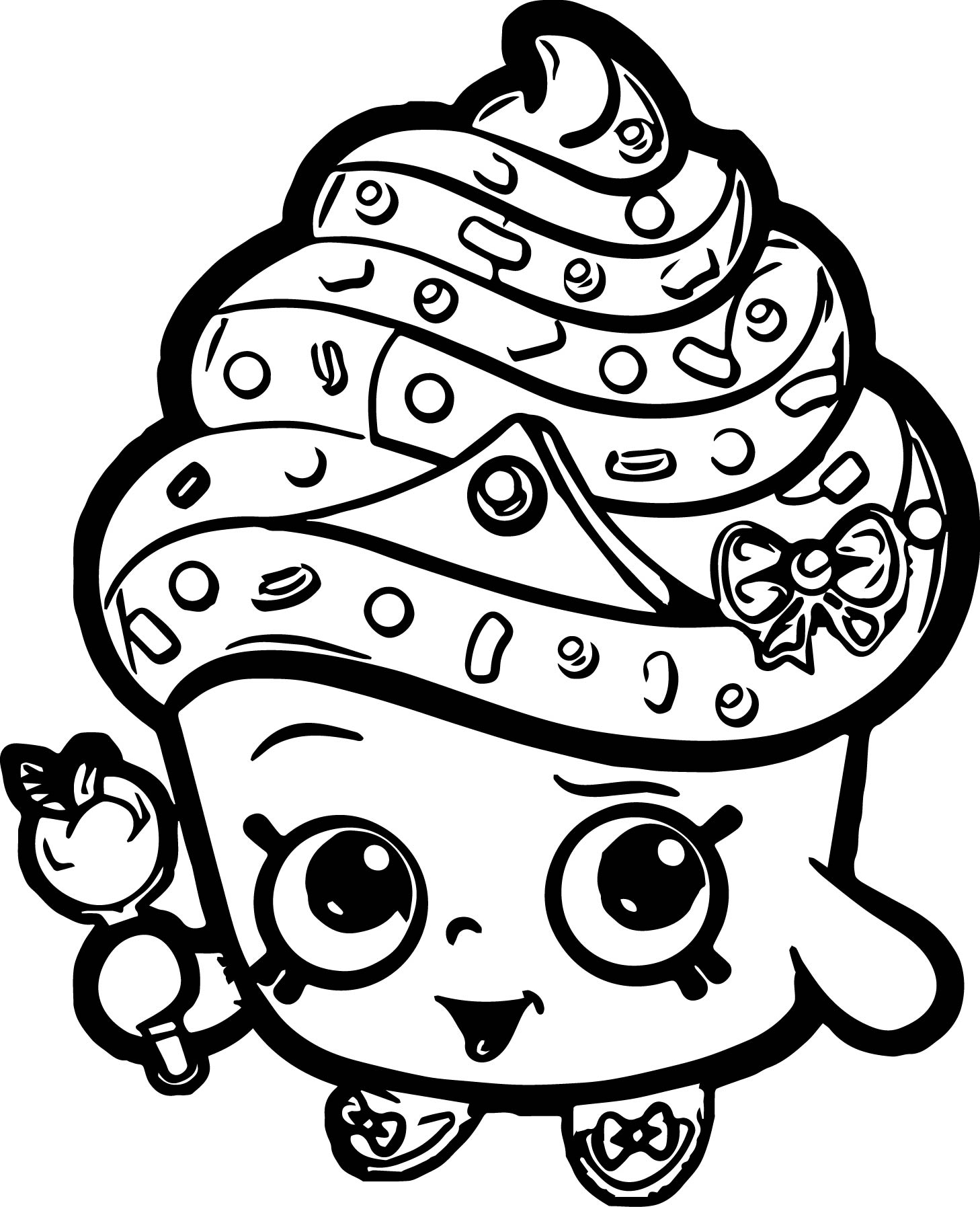 Shopkins Coloring Pages Cupcake Queen Colouring To Cure Gallery Of Limited Edition