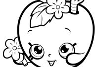 Print Shopkins Coloring Pages - Shopkins Coloring Pages Popcorn Fresh Print Fruit Apple Blossom Gallery