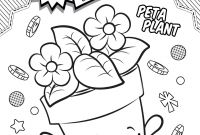 Print Shopkins Coloring Pages - Shopkins Coloring Pages Season 4 Peta Plant to Print Free Coloring Download