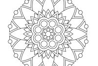 Mandala Coloring Pages to Print - Simple Mandala Coloring Pages 441—440 to Print