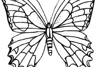 Monarch butterfly Coloring Pages - Simple Picture A butterfly to Color Drawing 9987 Unknown Collection