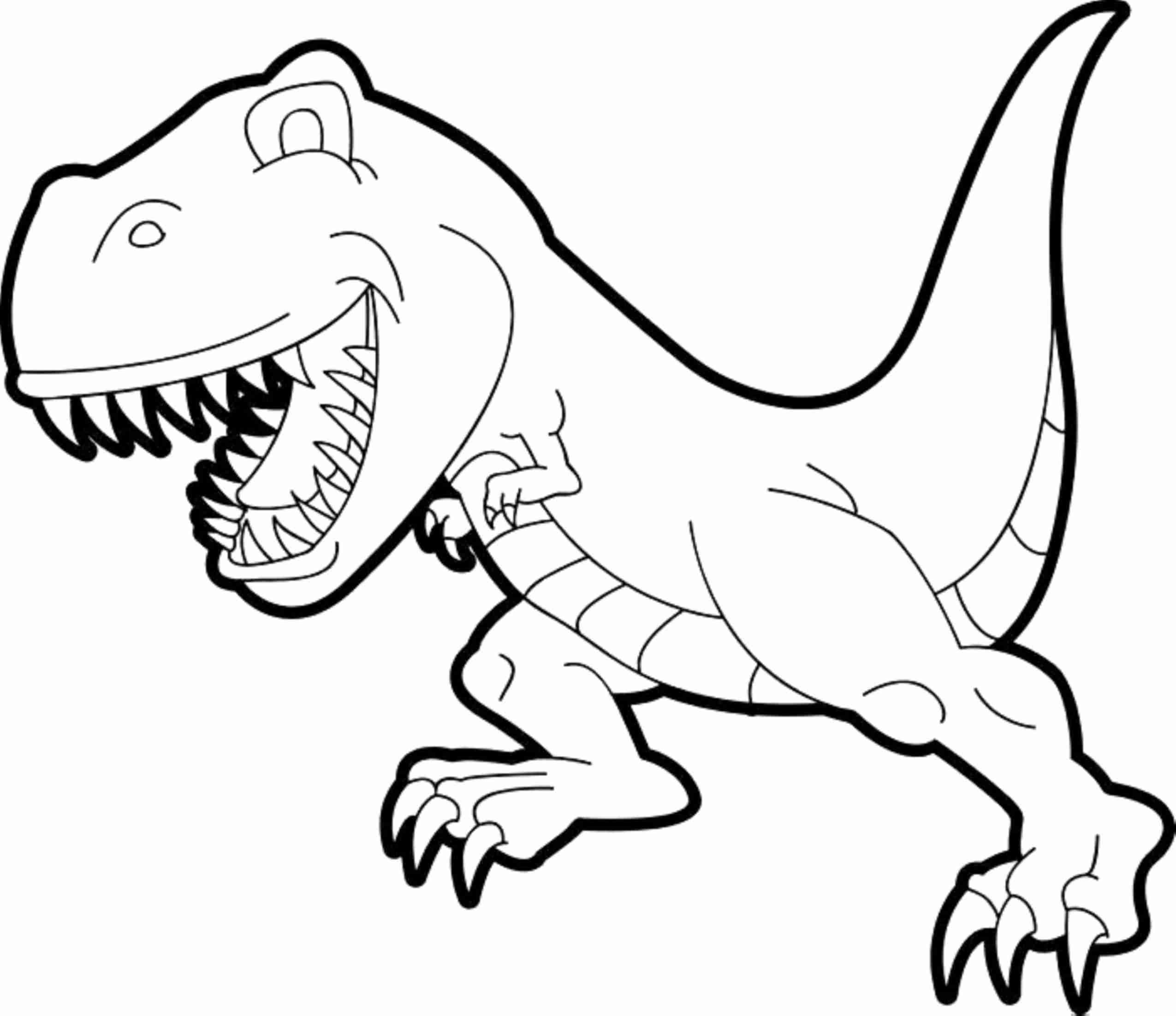 Simple T Rex Drawing Dinosaur Coloring Pages Trex Sketch Beautiful Gallery Of Dinosaur Clipart Coloring Page Triceratop Pencil and In Color Gallery