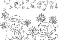 Printable Holiday Coloring Pages - Sizable Holiday Color Sheets Coloring Pages 9 Kids Gallery