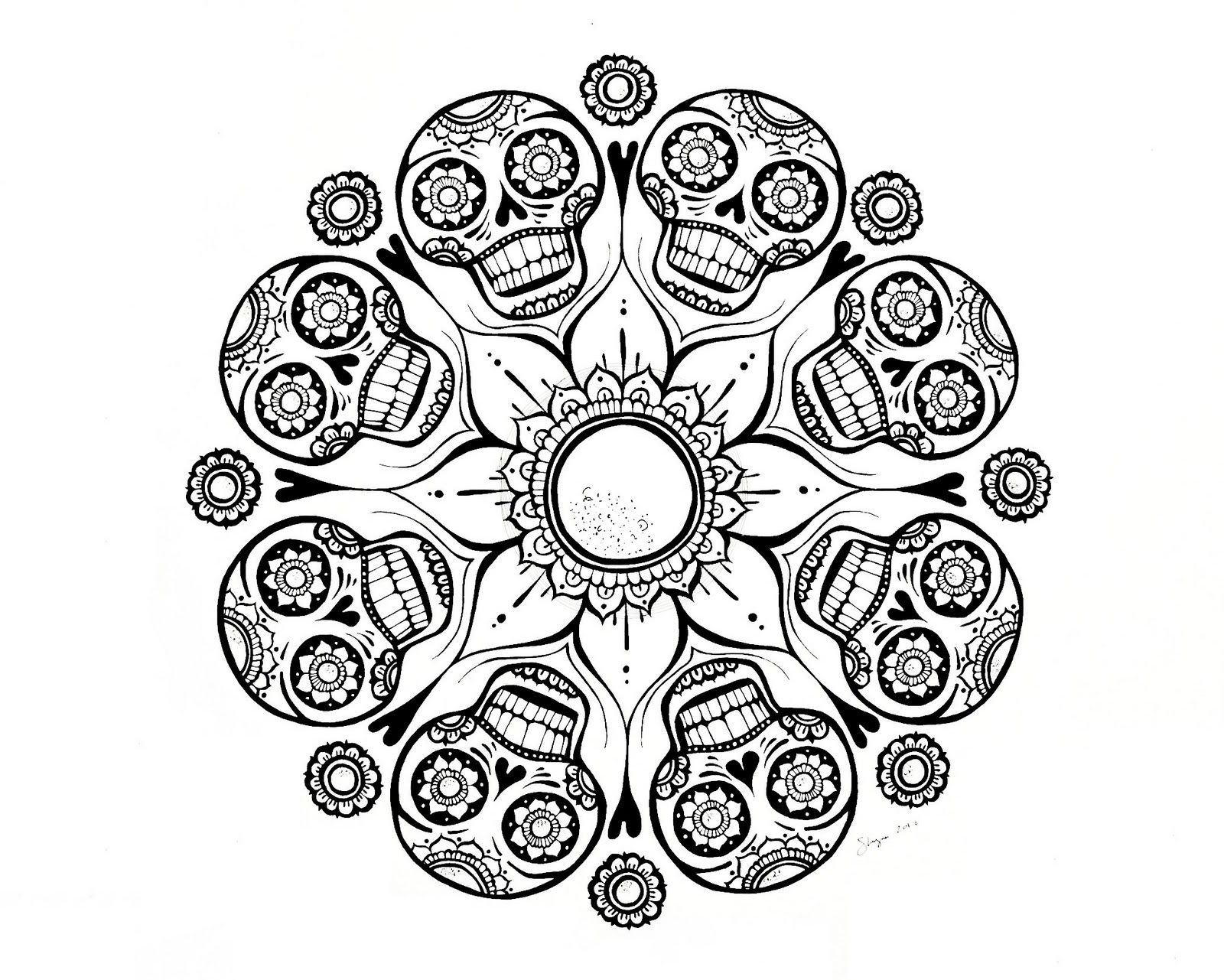 Skull Mandala Coloring Pages Collection Of Modern Intricate Mandala Coloring Pages Coloring for Good Mandala to Print