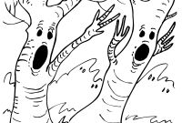 Tree Coloring Pages - Spooky Tree Coloring Page Create A Printout Activity Download