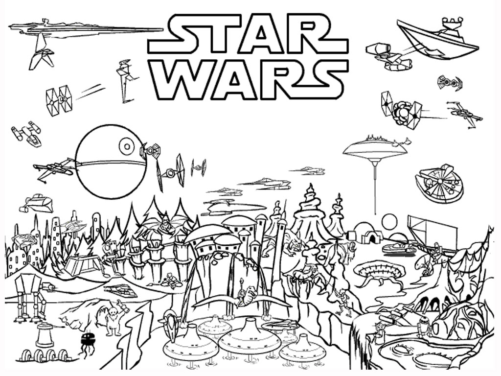 Star Wars World Free Coloring Page Kids Movies Star Wars Star Wars Download Of New Coloring Pages Star Wars Printable