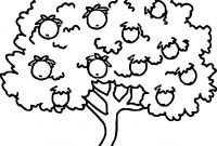 Tree Coloring Pages - Strange Fruit Tree Coloring Page Stock Illustr Unknown Printable