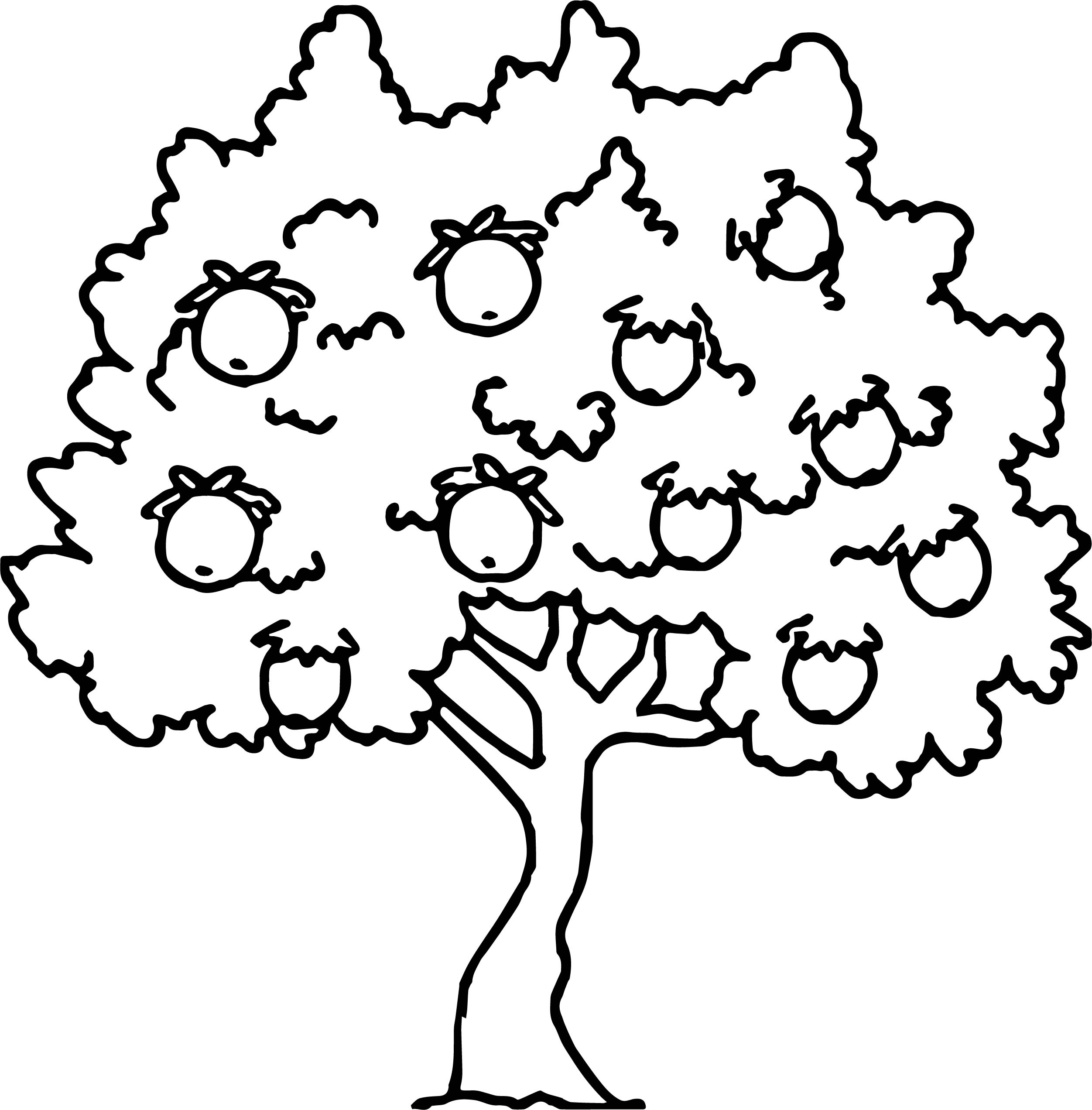 Strange Fruit Tree Coloring Page Stock Illustr Unknown Printable Of Noted Coloring Picture A Tree Pages Unknown Resolutions Printable