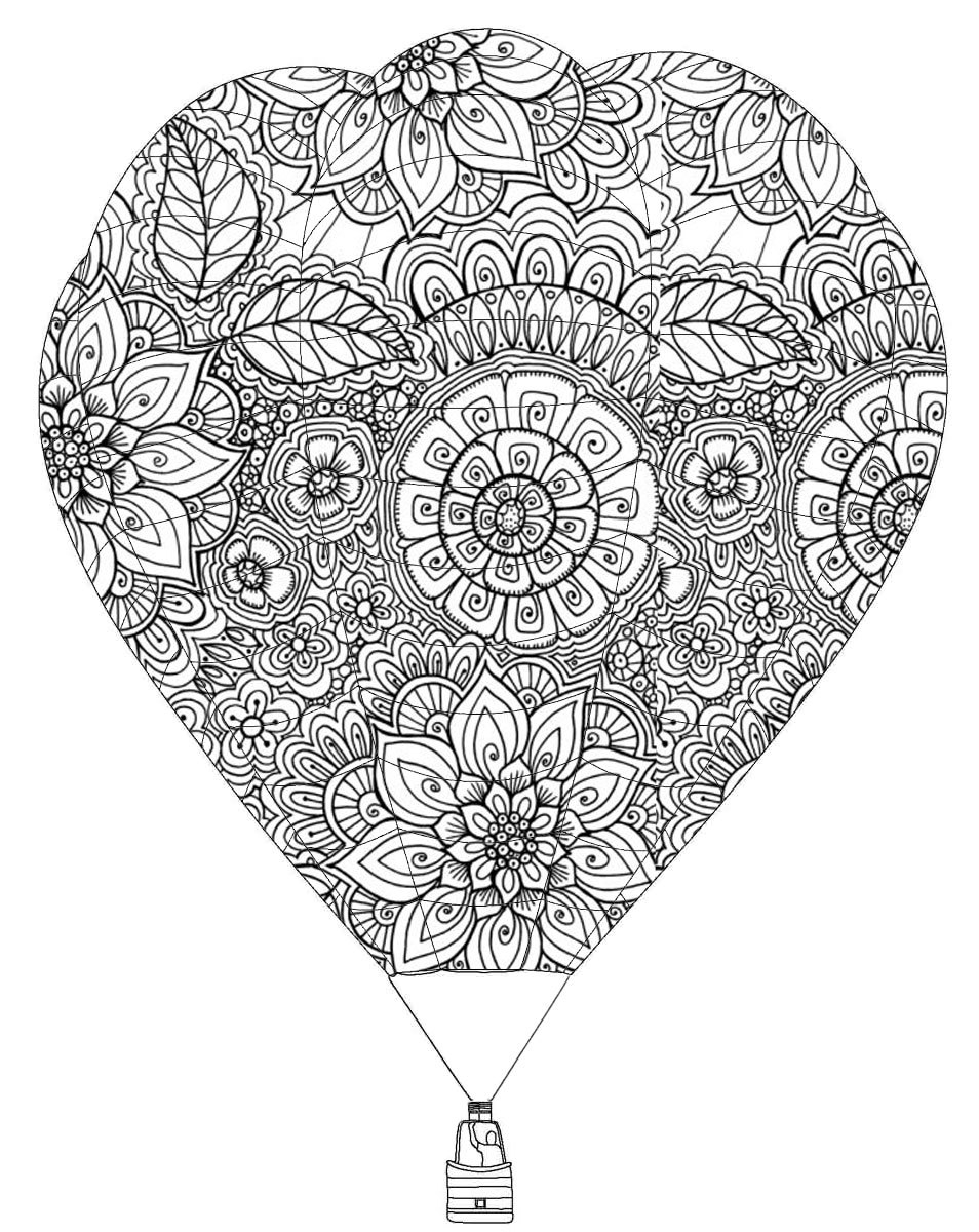 Strikingly Idea Hot Air Balloon Coloring Page Inspirational 79 In Printable Of Hot Air Balloon Coloring Page Collection