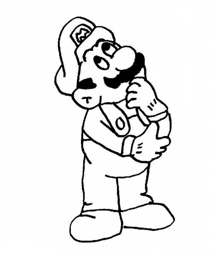 Super Mario Bros Coloring Pages Collection Of Toad Mario Drawing at Getdrawings Gallery