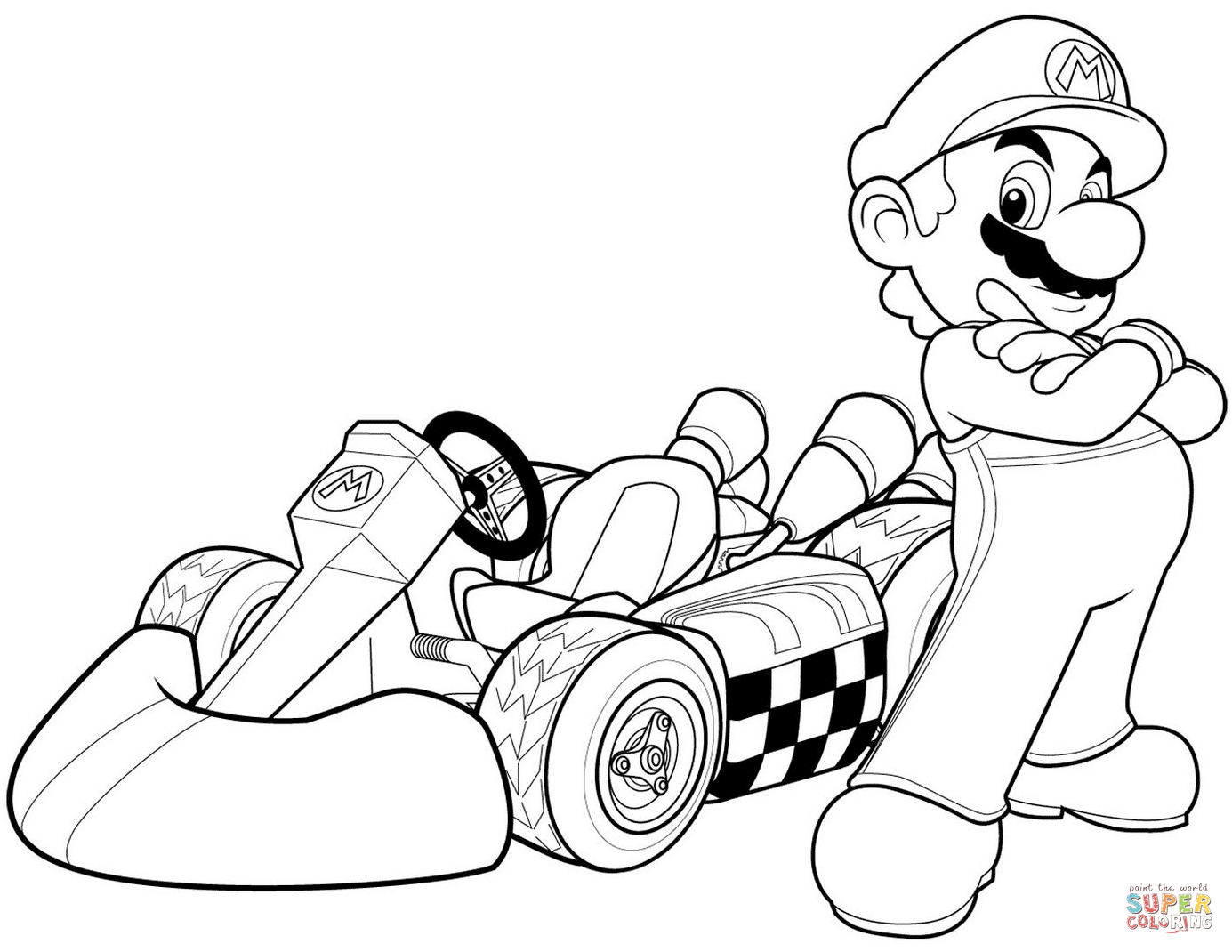 Super Mario Bros Coloring Pages To Print