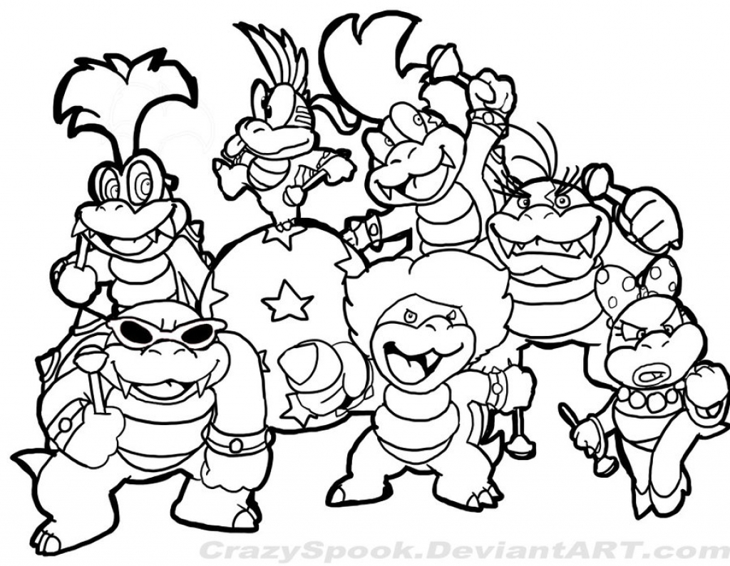 Super Mario Coloring Page 01 Colour In within Brothers Pages Printable Of Toad Mario Drawing at Getdrawings Gallery
