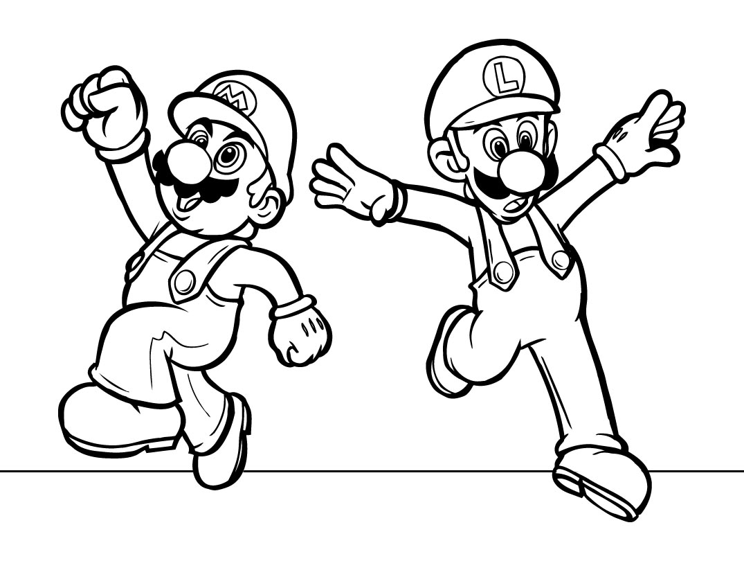 Mario Coloring Pages Download 2d - Free For Children
