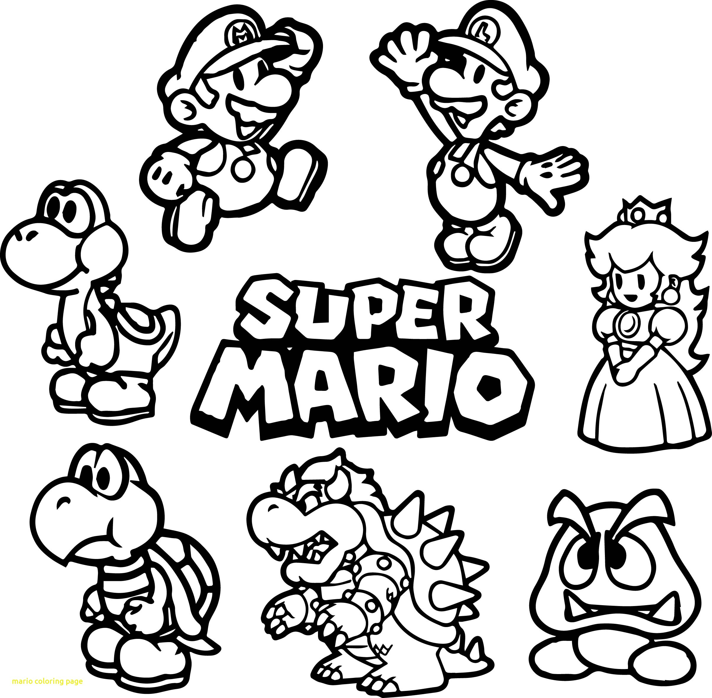 Super Mario Coloring Pages Collection Of Super Mario Bros Coloring Pages to Print