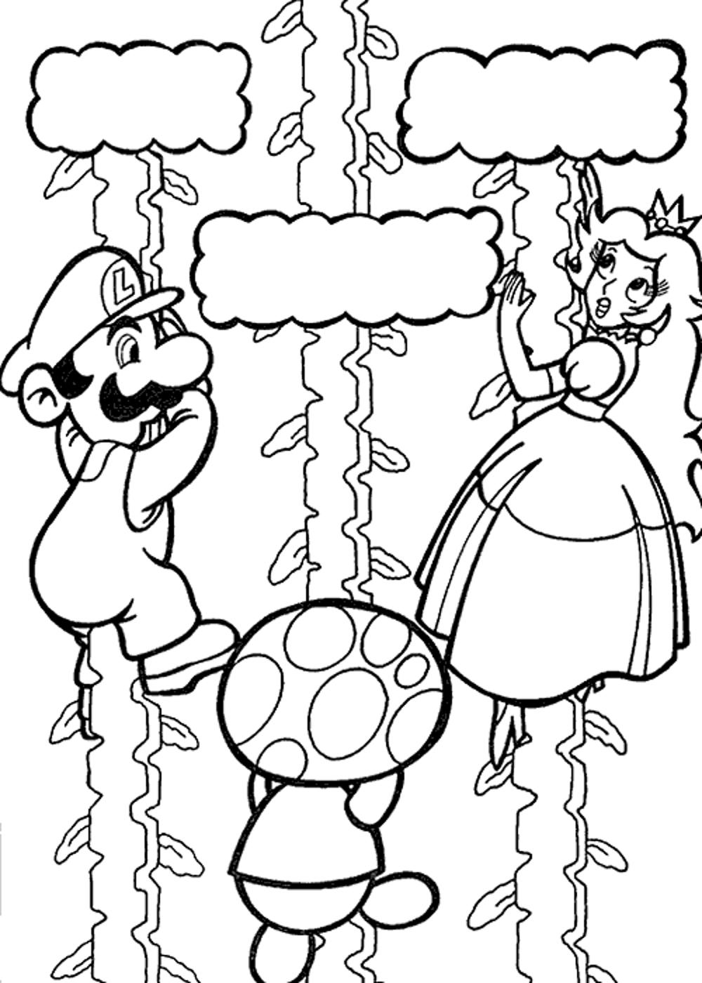 Super Mario Galaxy Coloring Pages Printable Of Toad Mario Drawing at Getdrawings Gallery