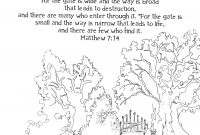 Free Scripture Coloring Pages - Surely He Stands at the Door Printable Free 8x10 Coloring Collection