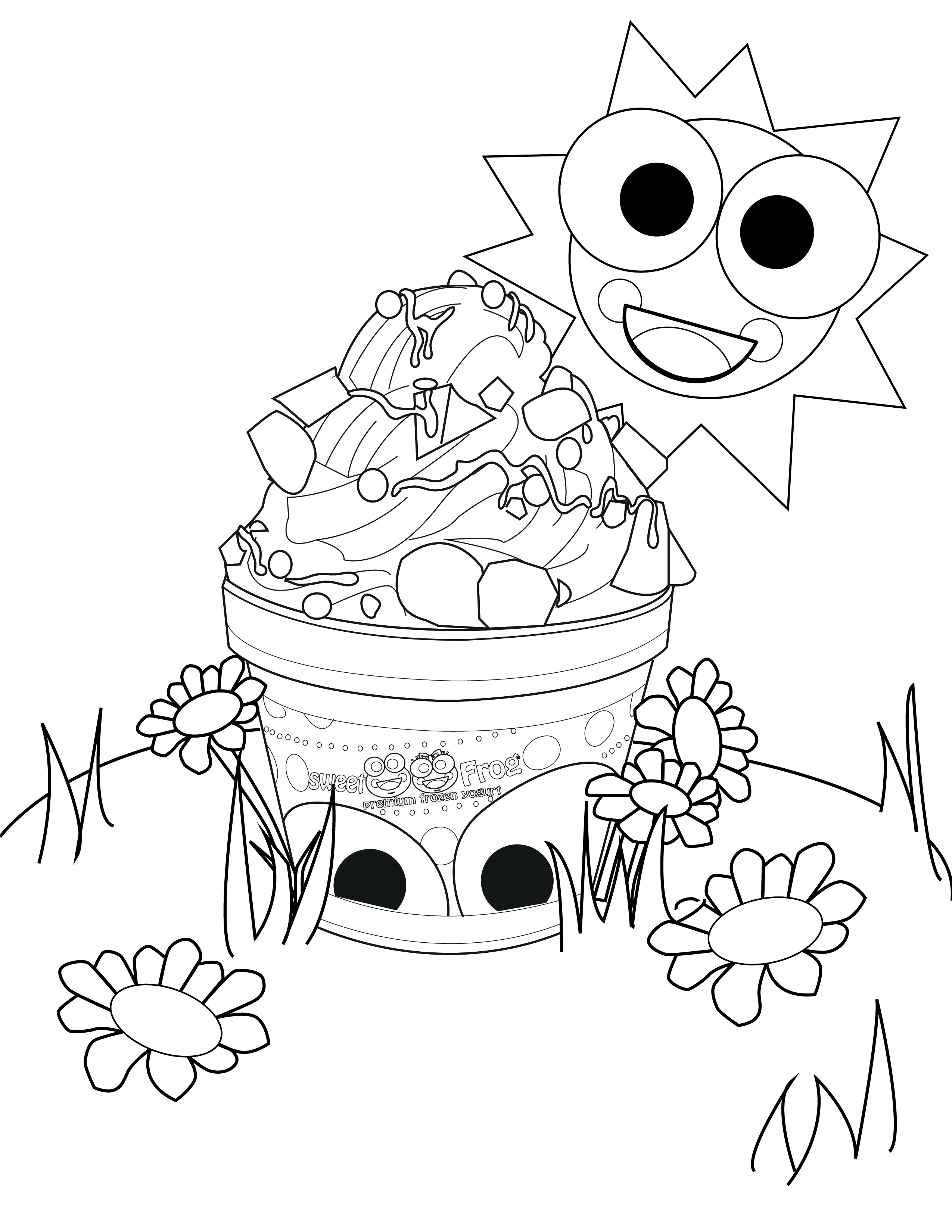 Yogurt Coloring Pages to Print 20o - Free For kids