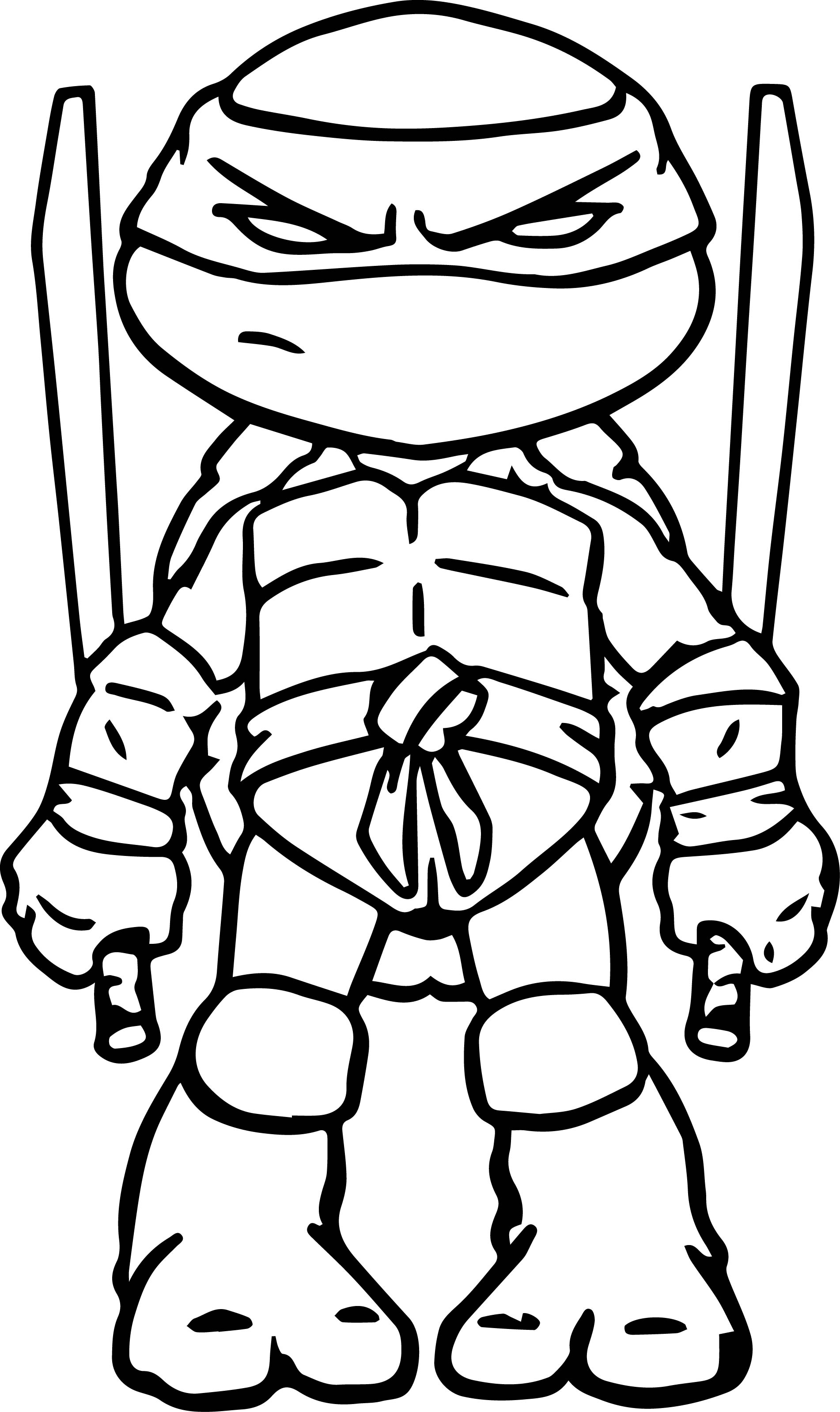 Teenage Ninja Turtle Coloring Pages Download 18o - Save it to your computer