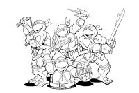 Teenage Ninja Turtle Coloring Pages - Teenage Mutant Ninja Turtles Coloring Pages Download