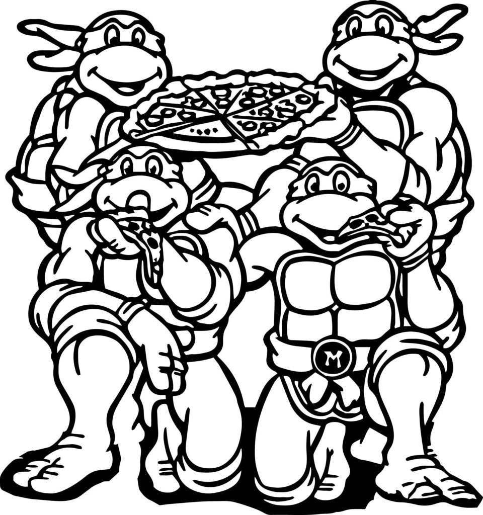 Teenage Ninja Turtle Coloring Pages Download 6l - To print for your project