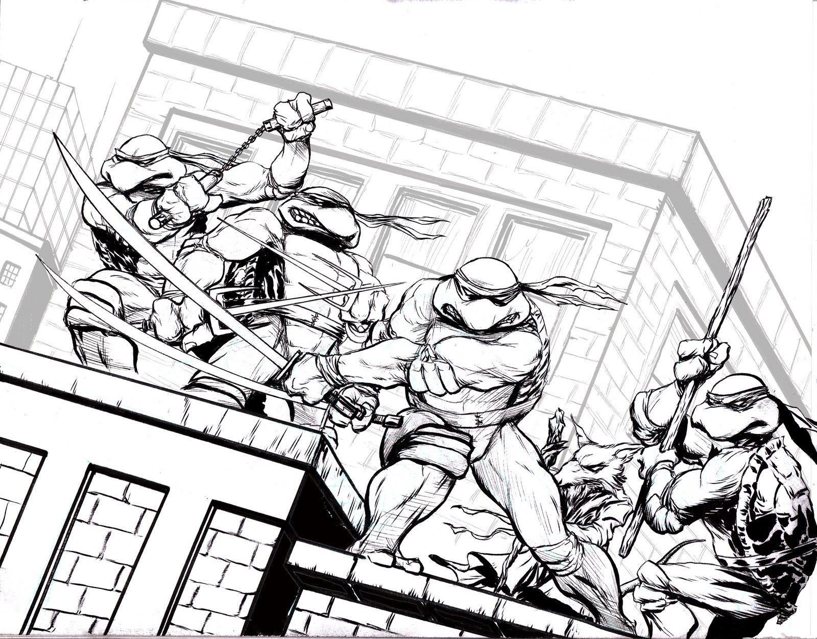 Teenage Mutant Ninja Turtles Coloring Pages Nickelodeon Download ...