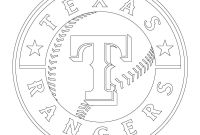 Texas Coloring Pages to Print - Texas Rangers Logo Coloring Page to Print