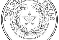 Texas Coloring Pages to Print - Texas State Seal Coloring Page Printable