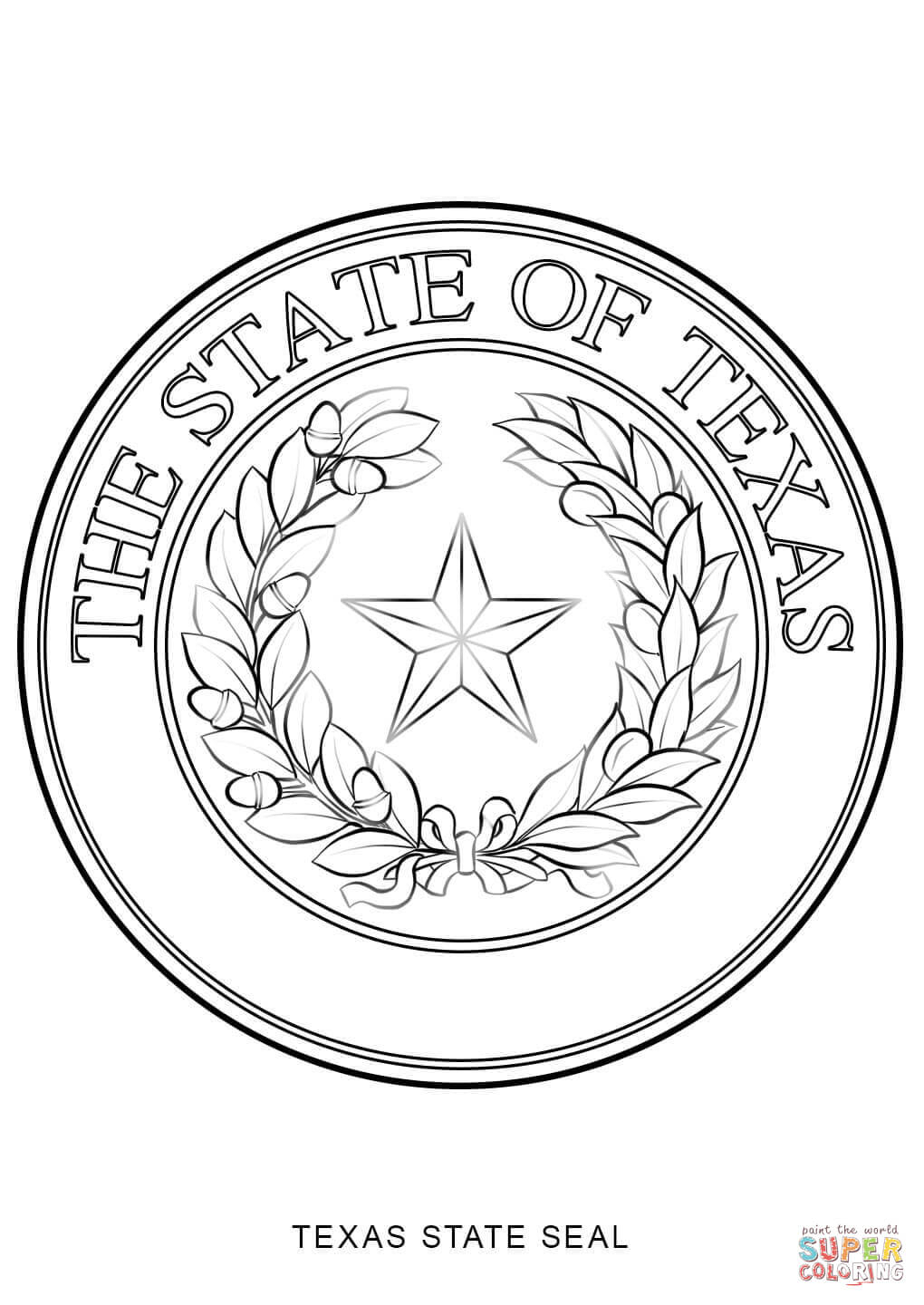 Texas State Seal Coloring Page Printable Of Perspective Texas Tech Coloring Pages Page to Print