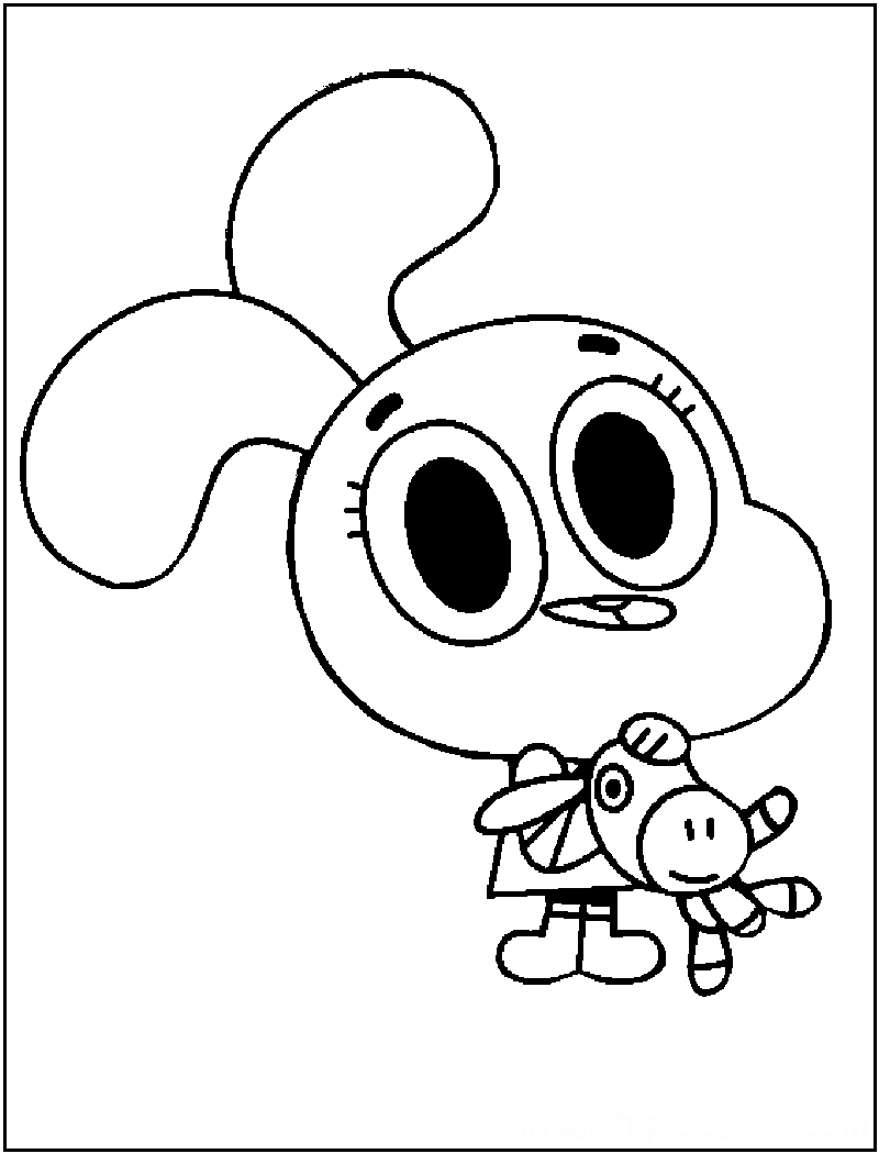 Amazing World Of Gumball Coloring Pages To Print Printable