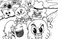 Amazing World Of Gumball Coloring Pages to Print - the Amusing World Of Gumball by Waniramirez On Deviantart Printable