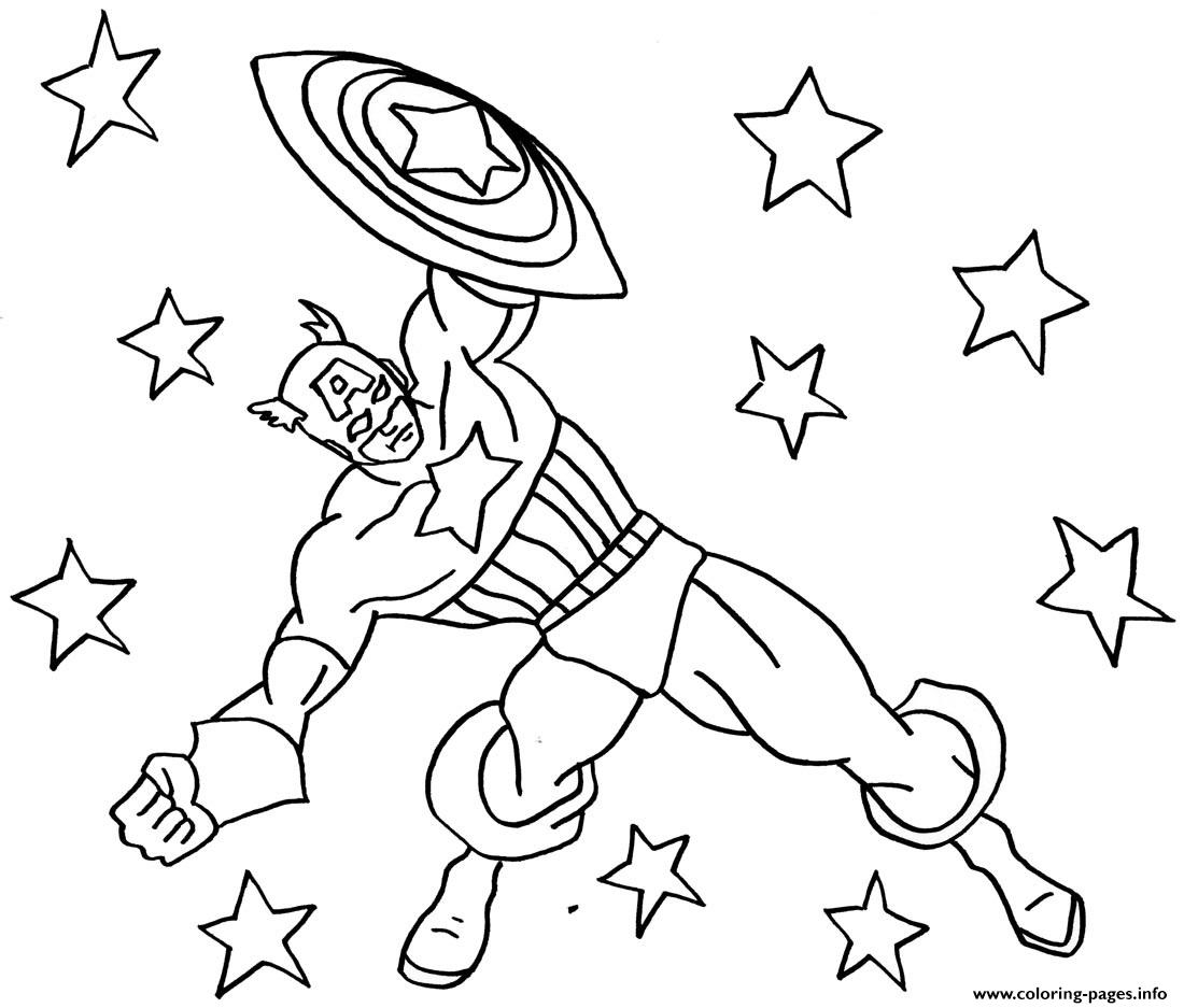 The Avengers Coloring Pages Captain America Shield Avenger Print For Gallery Of