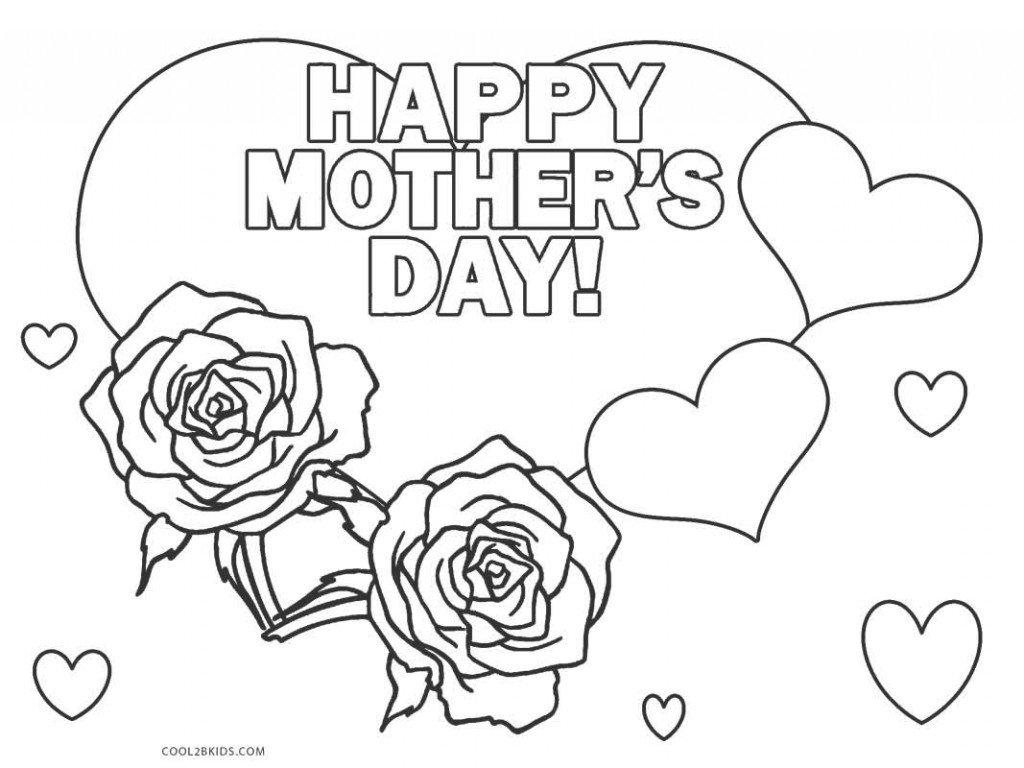 Mothers Day Coloring Pages Kids Download 11h - Free For Children