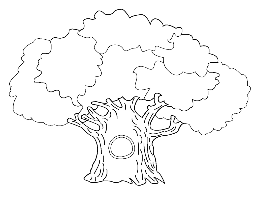 Tree Coloring Pages for Kids Printable Coloringstar Download Of Noted Coloring Picture A Tree Pages Unknown Resolutions Printable