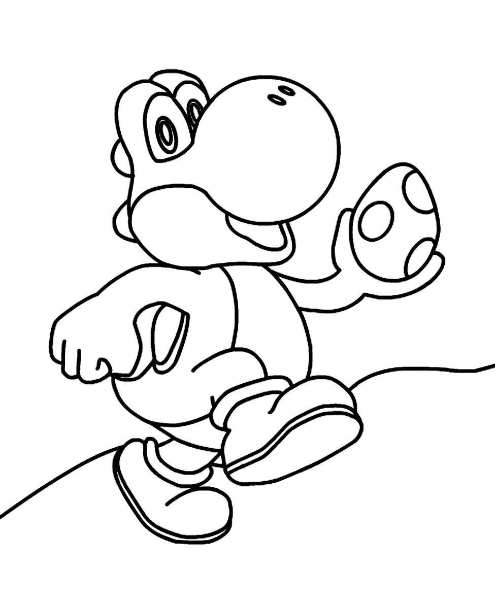 Trend Mario and Yoshi Coloring Pages to Print with Egg Coloringstar to Print Of Super Mario Coloring Pages Bonnieleepanda Gallery