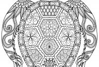 Mandala Coloring Pages to Print - Turtle Mandala Coloring Pages Printable Collection Download