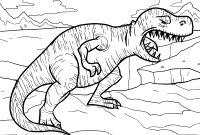 Dinosaurs Coloring Pages - Tyrannosaurus Rex Coloring Pages Collection