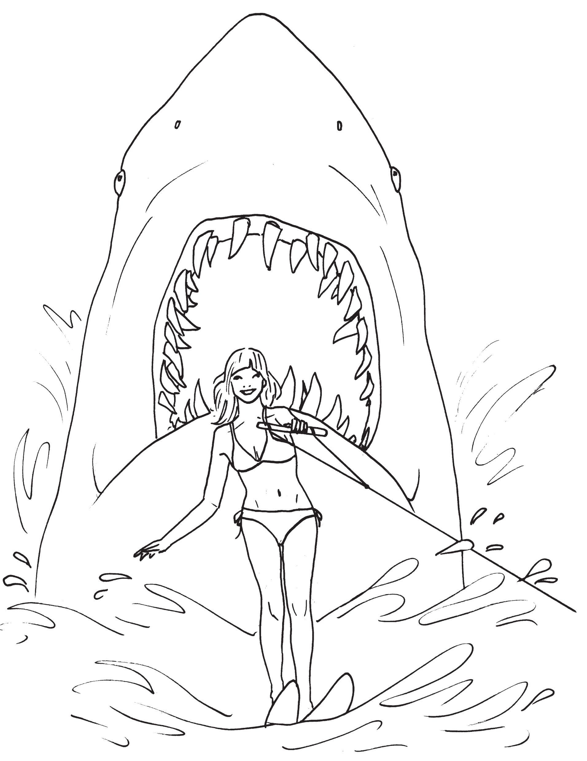 Unbelievable Great White Shark Coloring Pages Pic Styles and Fine ...
