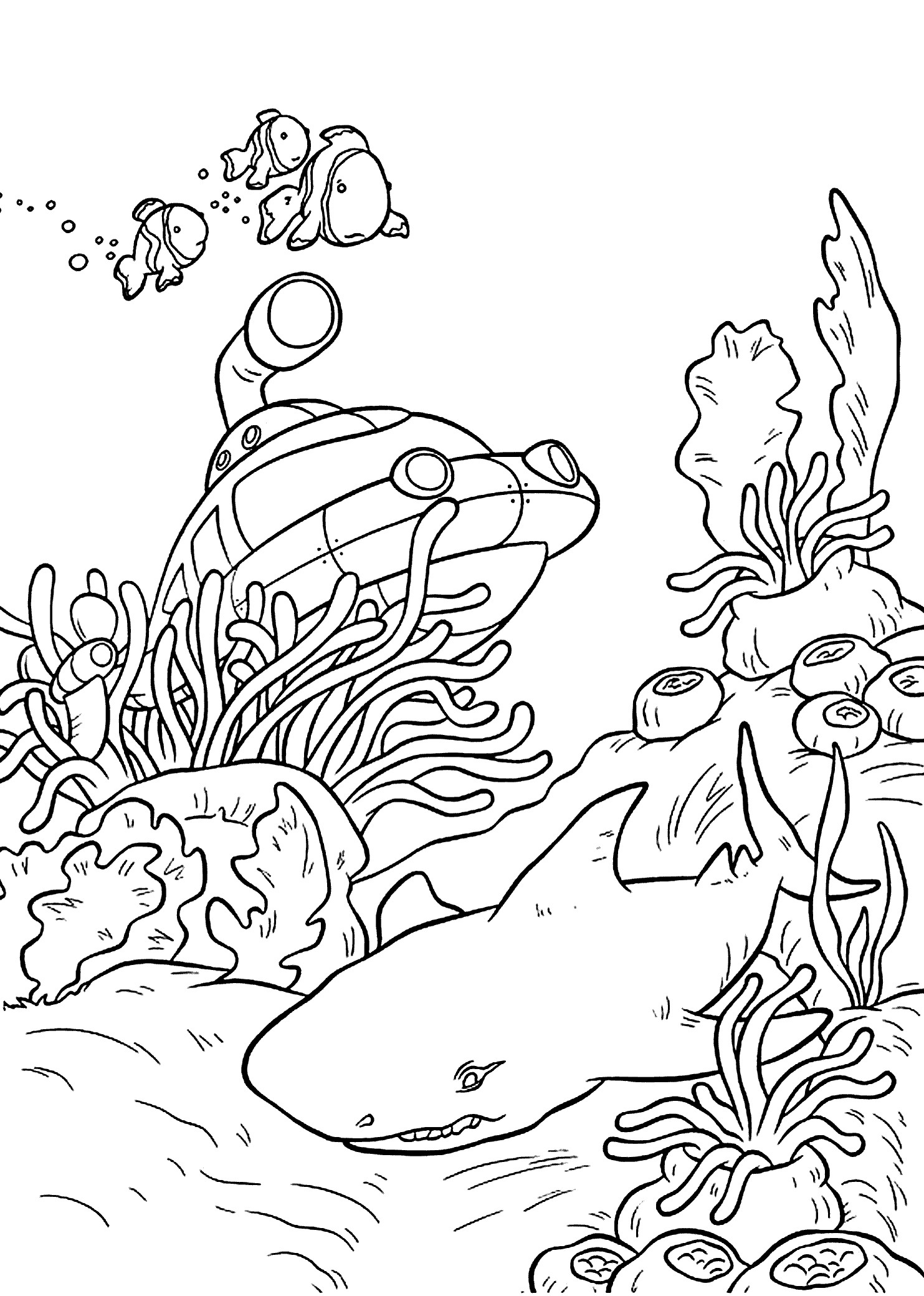 Sea World Coloring Pages Collection | Free Coloring Sheets