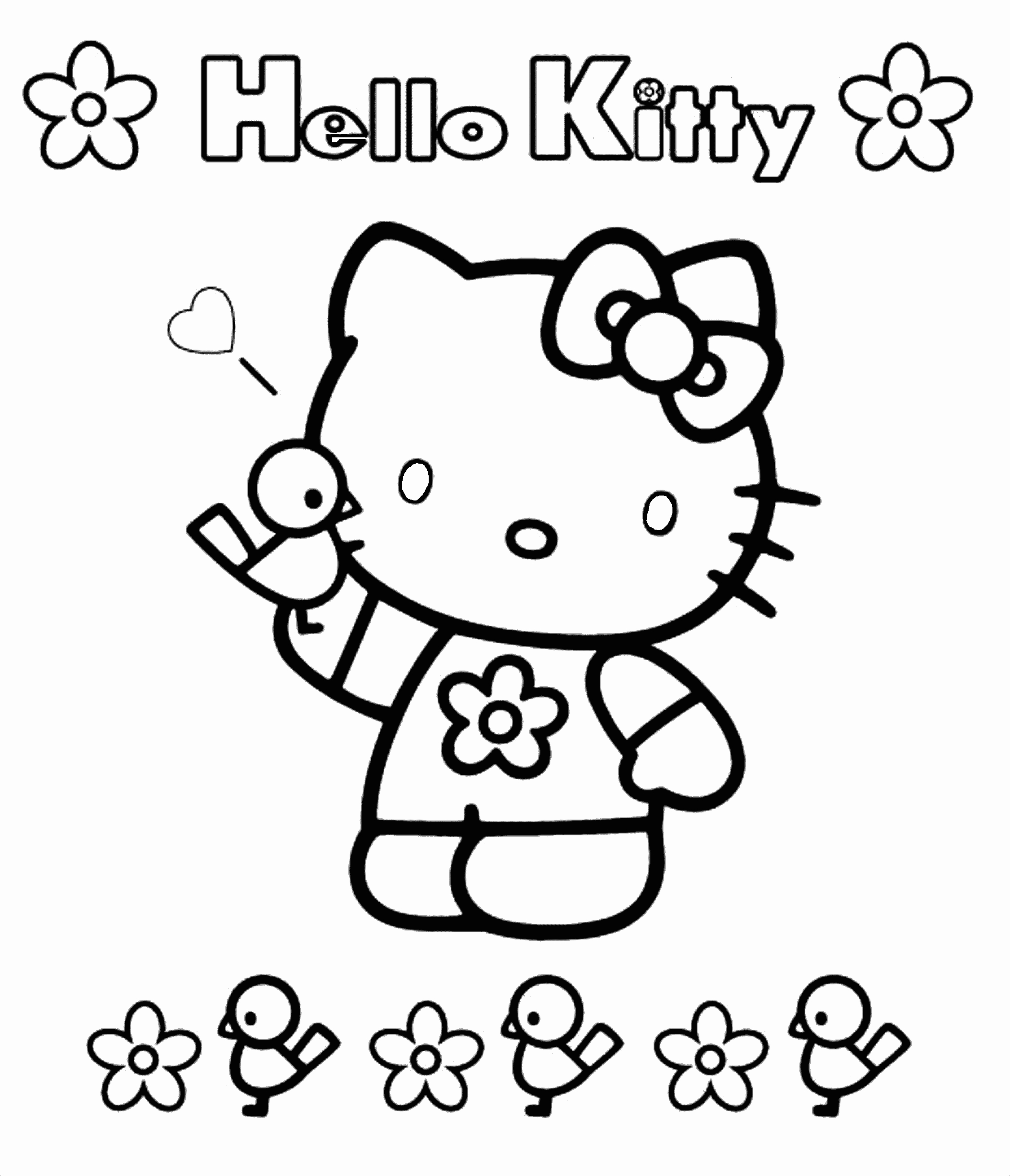 Unique Hello Kitty Princess Coloring Pages Collection To Print