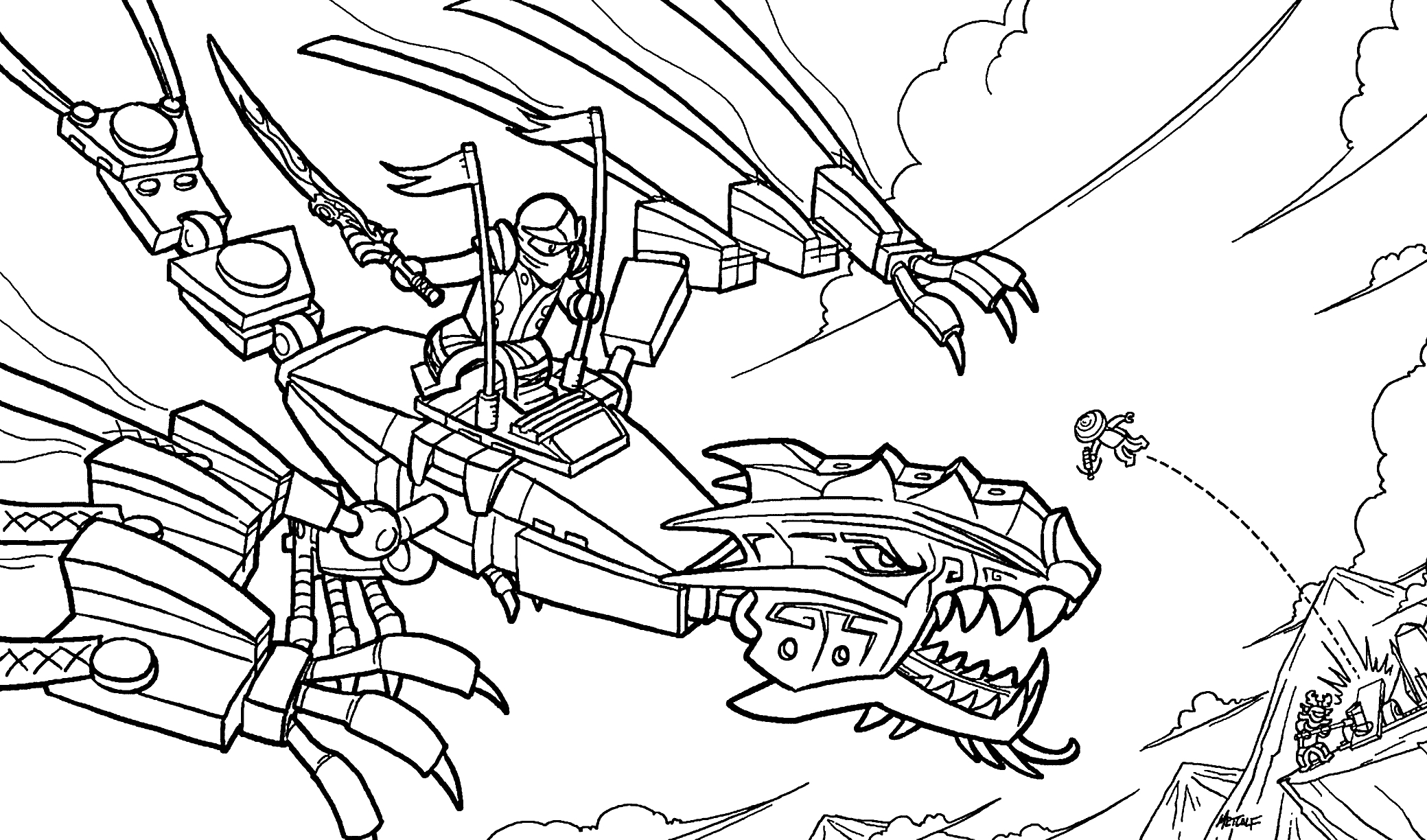 Unique Lego Ninjago Green Coloring Pages Collection Gallery – Free ...