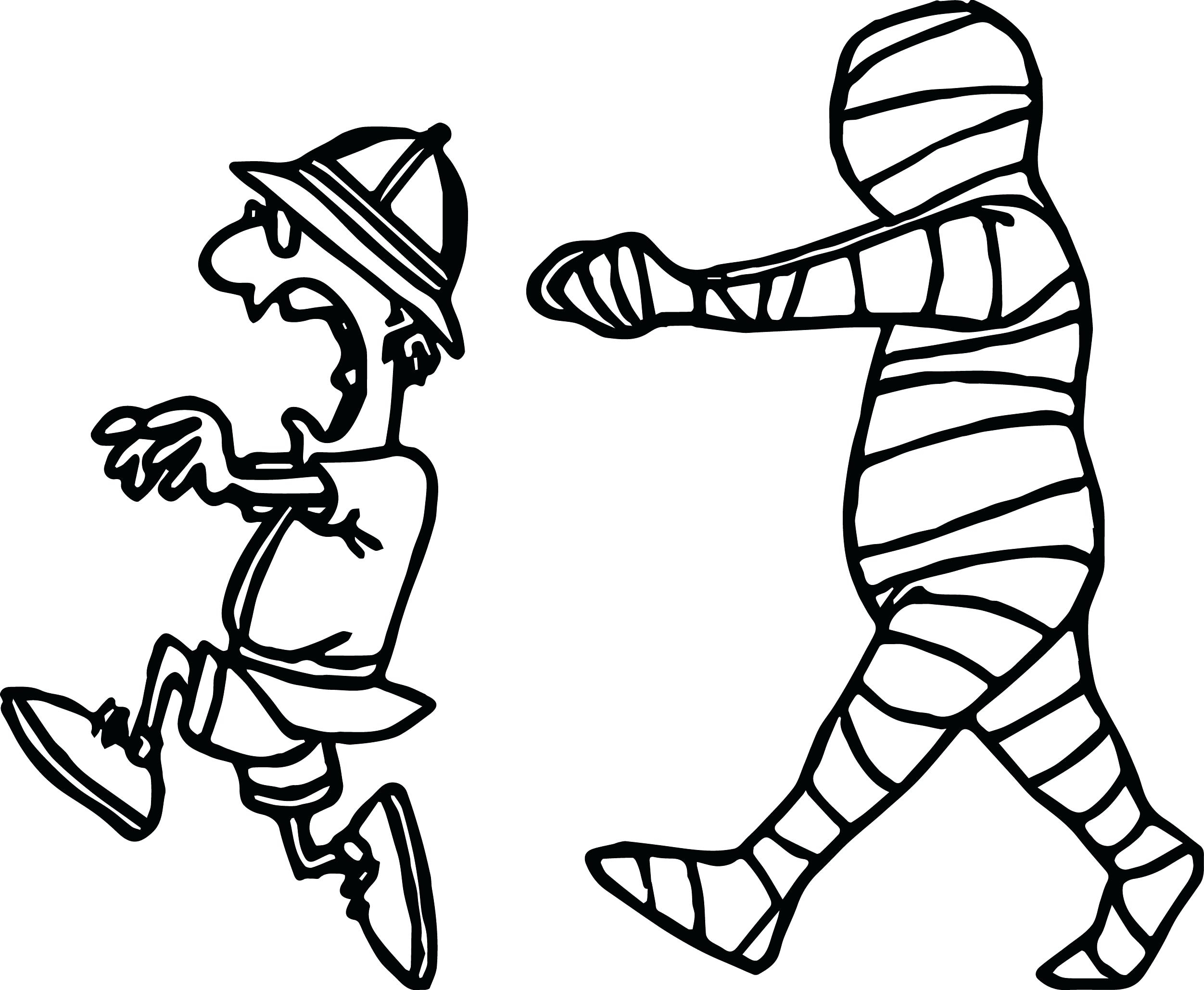 Mummy Coloring Pages Printable 6s - Free For kids