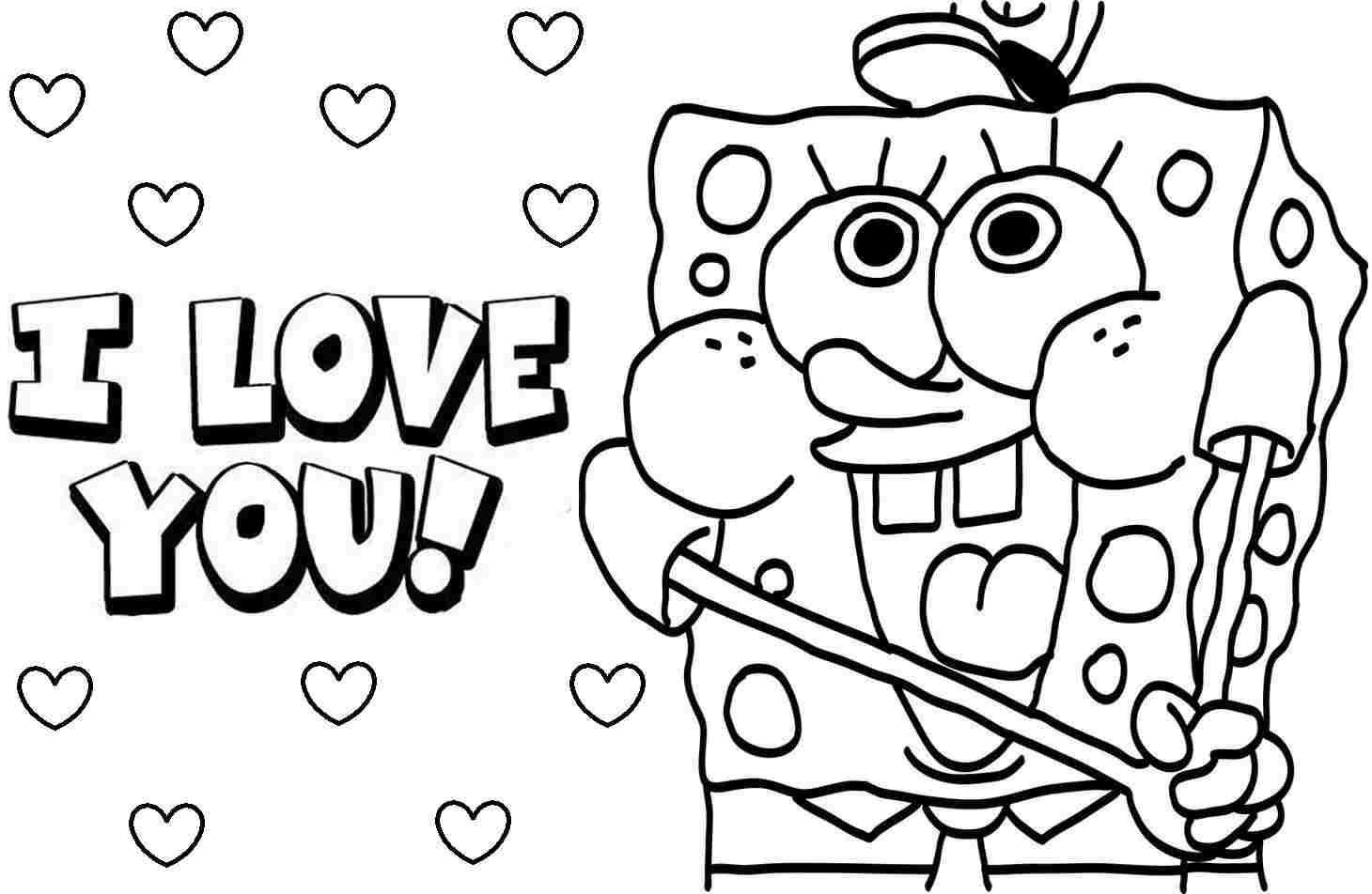 Valentines Printable Coloring Pages to Print 1t - Save it to your computer