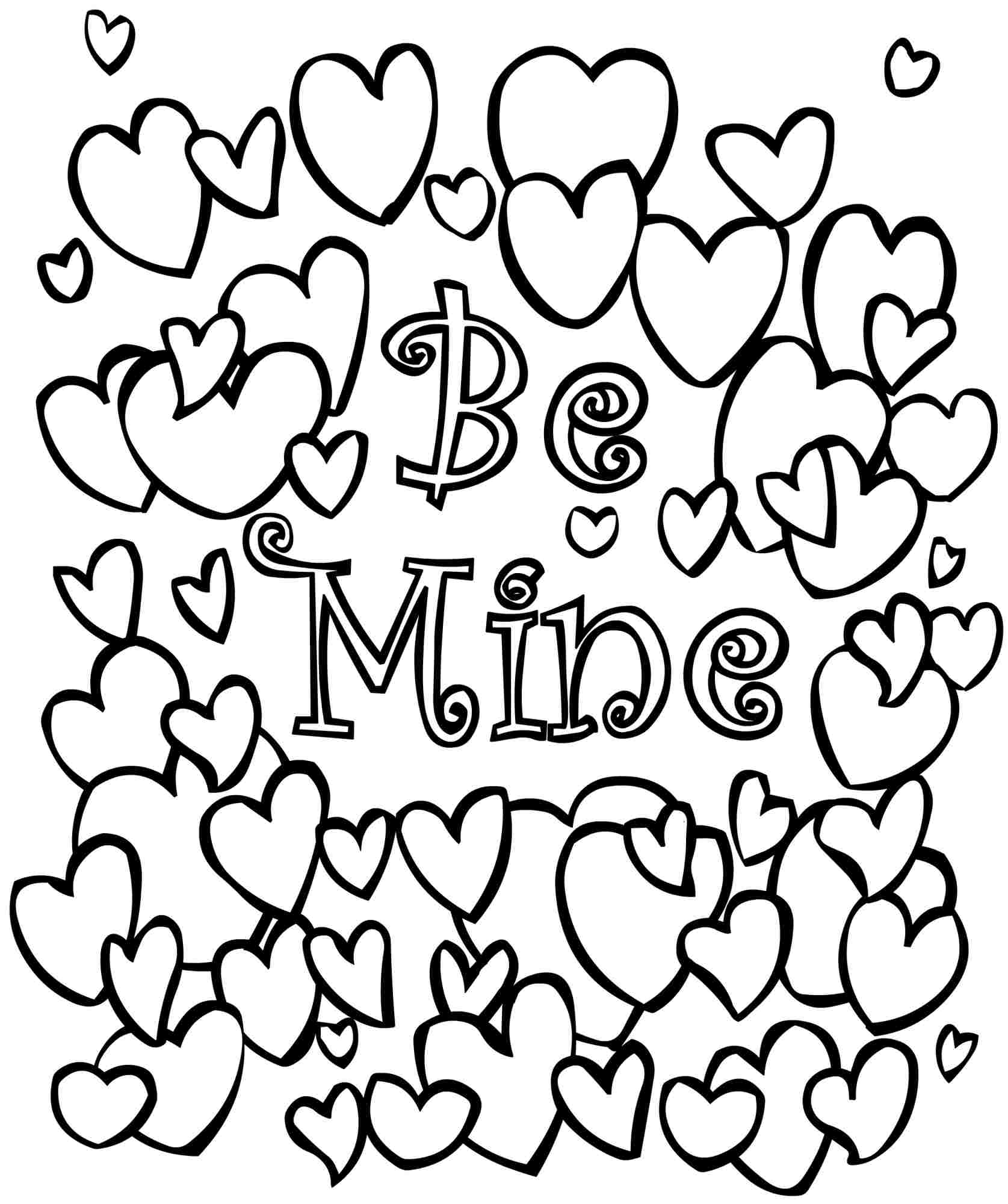 Valentines Printable Coloring Pages - Valentines Coloring Pages Printable Remarkable Valentine to Collection