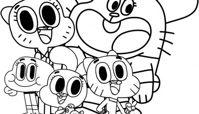 Amazing World Of Gumball Coloring Pages to Print - Watterson Family the Amazing World Gumball Coloring Pages and Collection