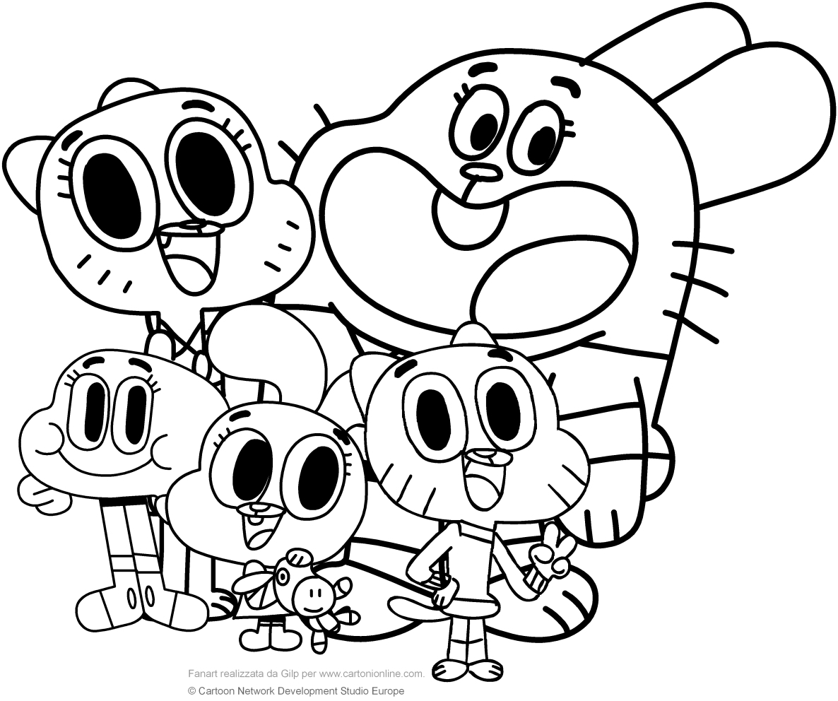 Amazing World Of Gumball Coloring Pages to Print Printable 2o - Free Download