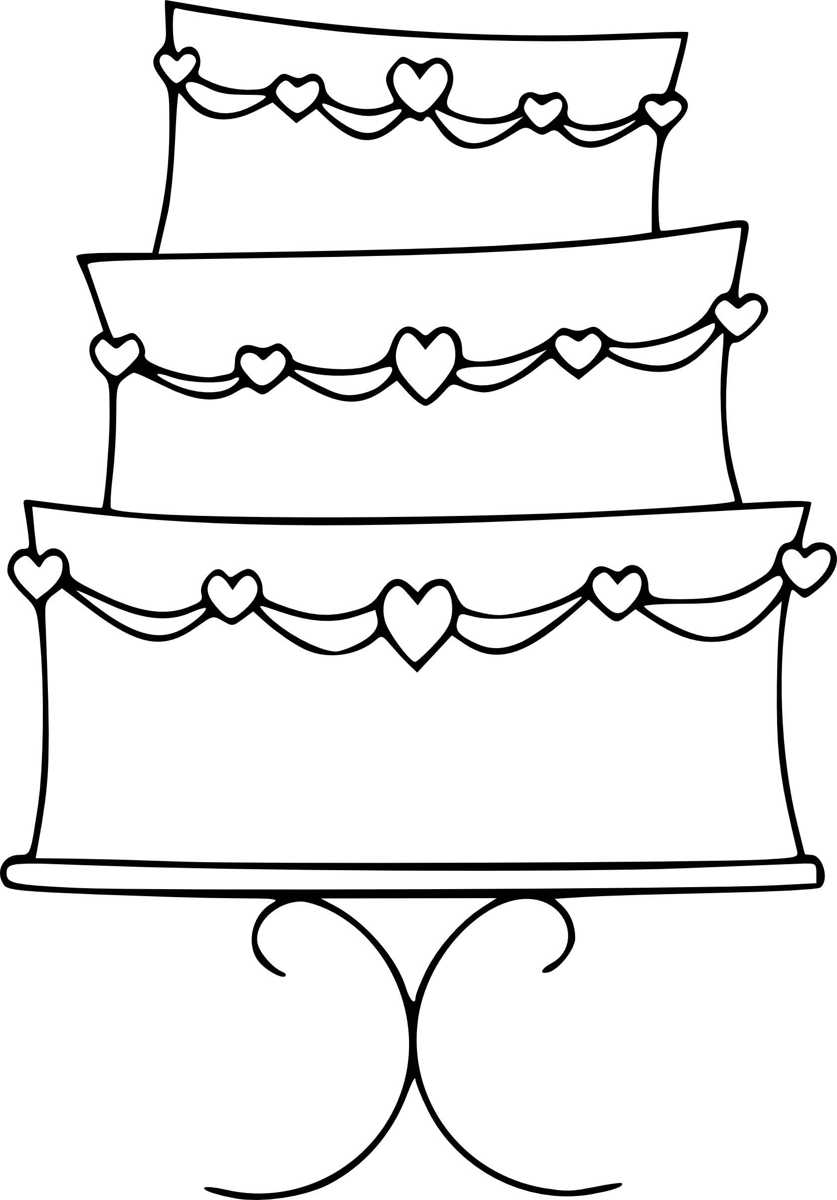 Wedding Cake Color Pages Free Printable 18 Of 20 Printable Icio