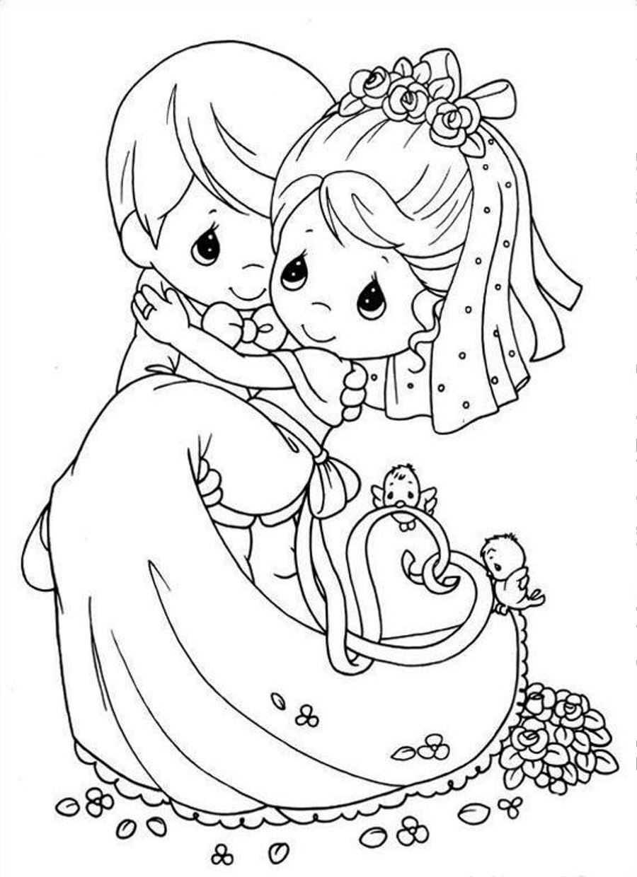 Wedding Coloring Pages Free Printable 1t - Save it to your computer