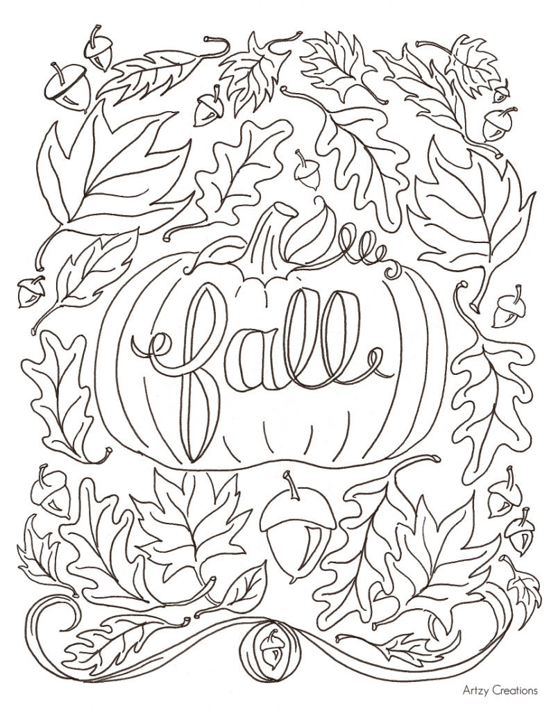 Willpower Autumn Coloring Pages Fall Sheets Free Printable Gallery ...